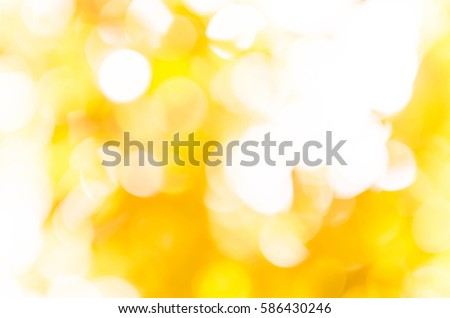 yellow bokeh background from nature under tree shade #586430246