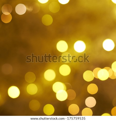 Yellow bokeh lighs as an abstract background composition