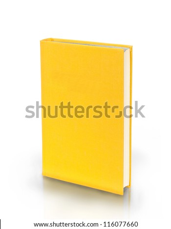 Yellow book isolated on white background - stock photo