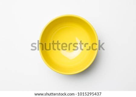 Yellow bowl on white background #1015295437