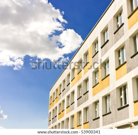 Yellow Building with Windows