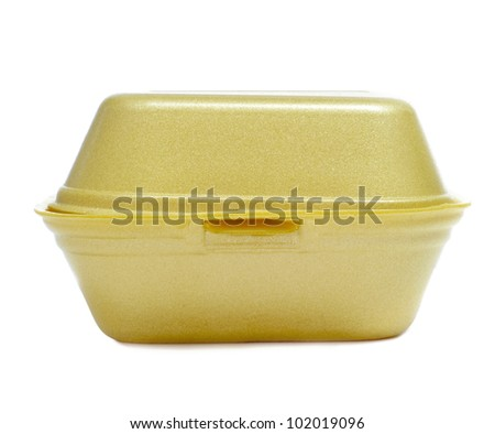 yellow burger box on a white background
