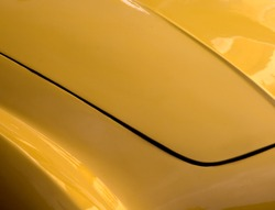 Yellow car hood abstract