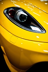 Yellow car with light