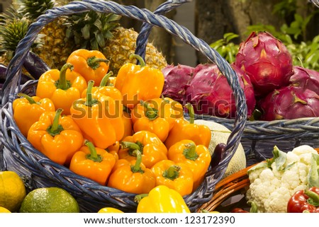 Yellow chilli peppers for adv or others purpose use