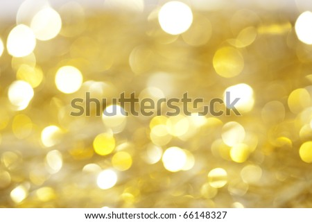 Yellow christmas lights as background