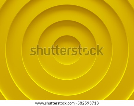 Yellow circular abstract background picture. 3D illustration. This image works good for text and website background, print and mobile application. - Shutterstock ID 582593713