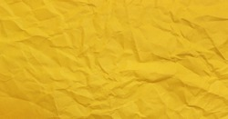 Yellow clumped Paper texture background, kraft paper horizontal with Unique design of paper, Natural paper style For aesthetic creative design