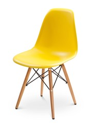 Yellow color chair, modern designer. Chair isolated on white background. Series of furniture