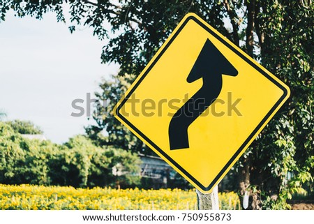 yellow color of traffic signs...