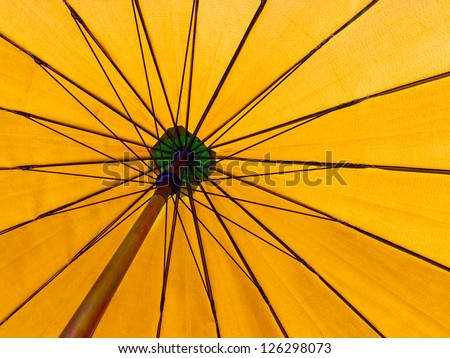 yellow color umbrella