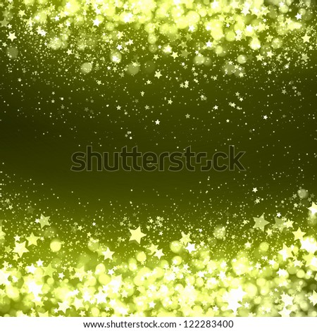 Yellow colour bokeh abstract light background. Illustration