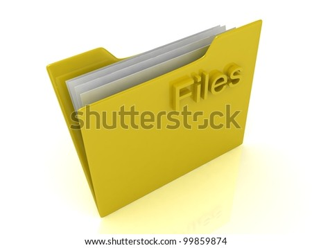 Yellow computer folder labeled files