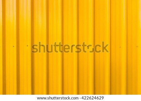 Yellow Container Steel Background