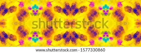 Yellow Coral Tie Dye Fabric Piece. Vibrant Geometrical Ikat Pattern. Mustard Blush Aztec Rug Italian Ceramic. Yellow Pink Tie Dye Effect. Bright Geometric Geometric Design.
