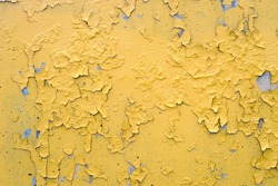 yellow cracked paint damaged concrete rough texture