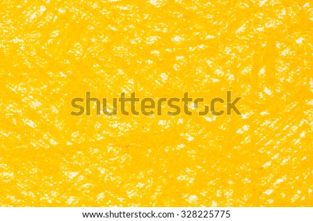 yellow crayon drawings on white paper background texture