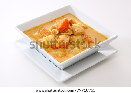 Yellow Curry Chicken (Massaman  Curry Chicken) - stock photo