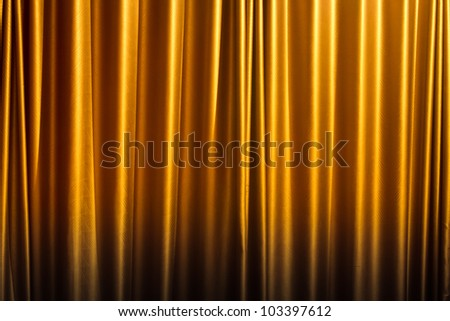 Yellow curtain background.