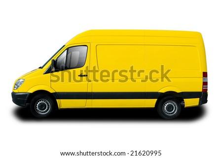 Yellow Delivery Van