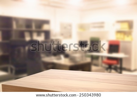 yellow desk and office