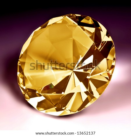 Yellow diamond close-up 2