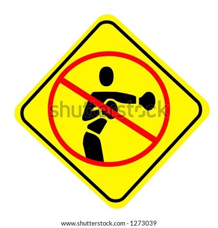 No Fighting Sign Yellow Diamond No Figh...