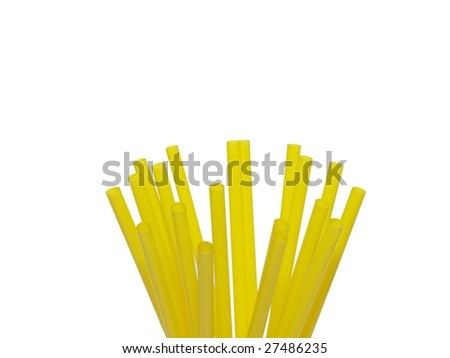 yellow drinking straw for cocktails