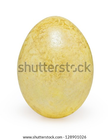 Yellow ester egg isolated on white background with clipping path