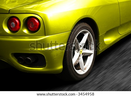 Yellow Ferrari 360 Rearlights - colour easily changeable