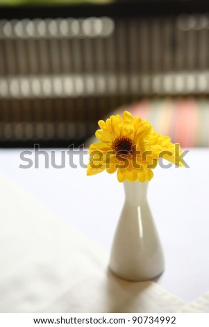 Yellow flower in Jar
