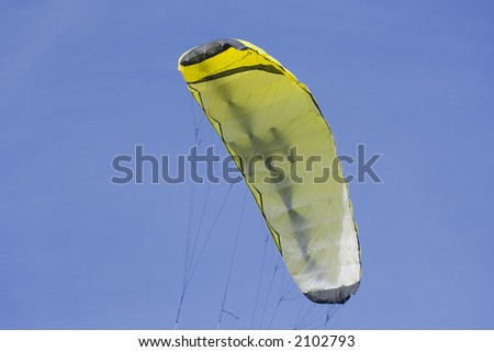 yellow foil kite - four liner with a lot of power