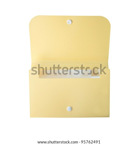 yellow folder on isolated background