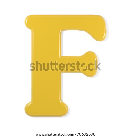 Yellow Font - Letter F Stock Photo 70692598 : Shutterstock