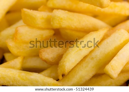 yellow french fries  background