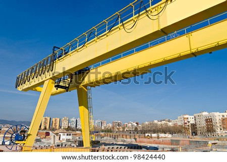Yellow Gantry Crane