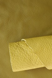 Yellow genuine leather roll.real leather set.