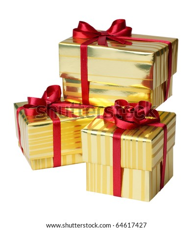 Yellow Gift Box on a white background