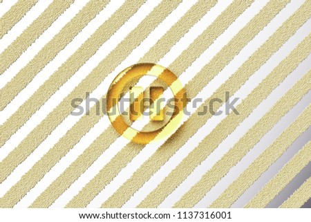 Yellow Glass Pause Contour Icon on the Silver Stripe Background. 3D Illustration of Yellow Audio, Button, Control, Media, Pause Icon Set With Fur Stripes Silver Background.