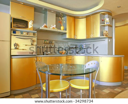 yellow gold kitchen