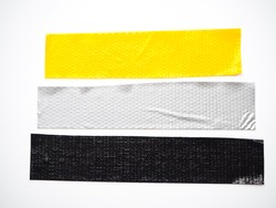 yellow gray black scotch tape, sticky tape isolated on white background. can use business-paperwork-banner products