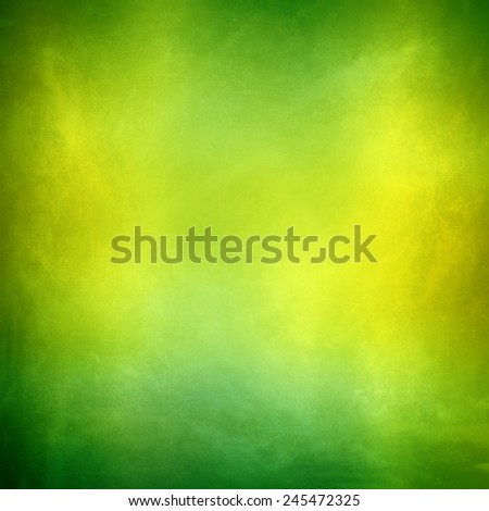 yellow green colorful background , smooth gradient distressed vintage grunge background texture design with bright spot