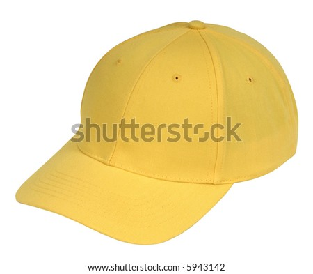 yellow hat isolated on white