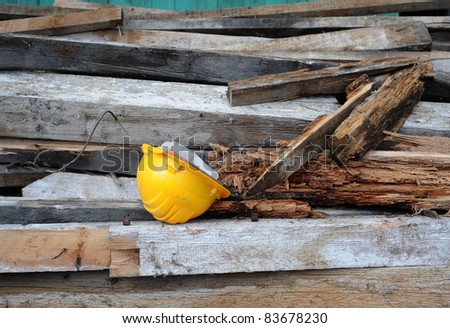 yellow headpiece in the constructional