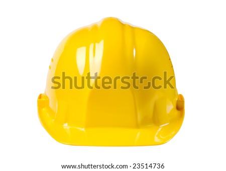 Yellow helmet isolated