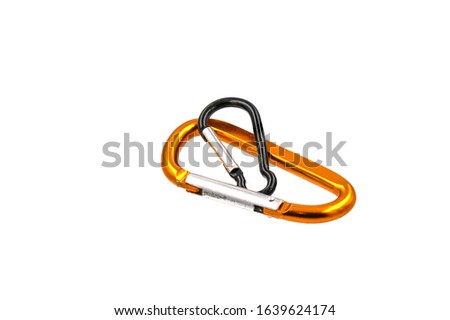 Yellow hooks  and Black hooks  on a white background