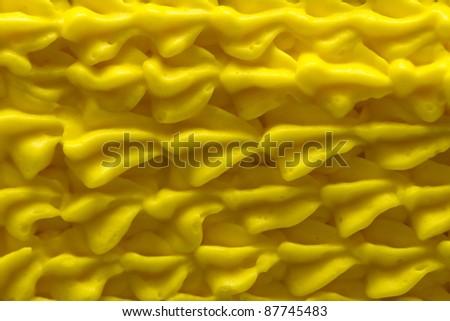 Yellow icing closeup
