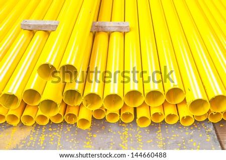 Yellow iron pipe
