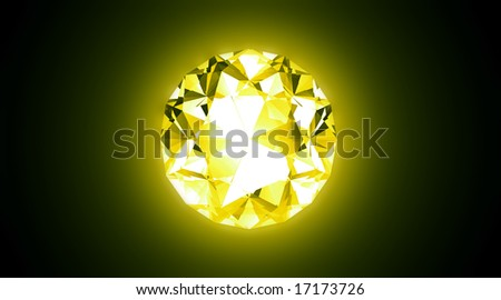 Yellow Jewel - 3D Illustration