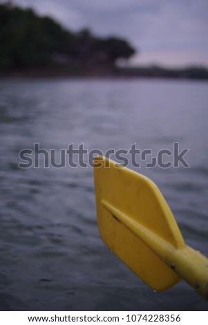 yellow Kayak paddle #1074228356